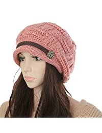 Women Knit Snow Hat Winter Snowboarding Beanie Crochet Cap