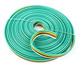 Flat Trailer Light Cable Wiring Harness 25ft 14 Gauge 4 Wire 4 colors