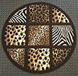 Animal Prints Round Rug 7 Ft. 8 In. X 7 Ft. 8 In. Design # S 251 Chocolate Review