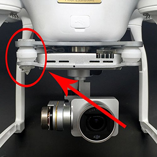 Phantom 2 Professional Advanced Gimbal Mount Anti Vibration Clear SML SAMLOO 8pcs Shock Absorbers Rubber Damper Balls and Anti-Drop Securing Pins for DJI Phantom 3