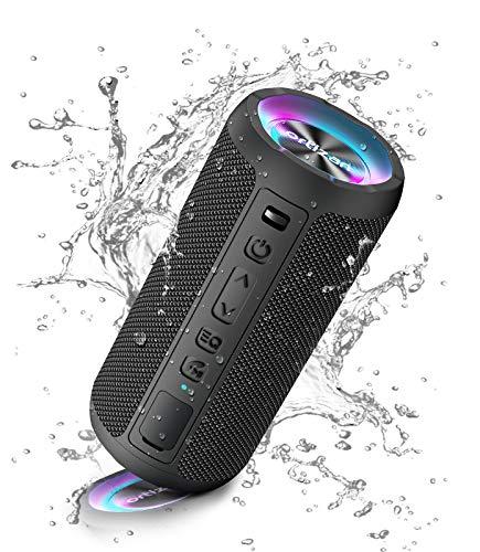 Ortizan Bluetooth-luidspreker, draagbare draadloze Bluetooth-luidsprekers met led-licht, luider volume en verbeterde bas…