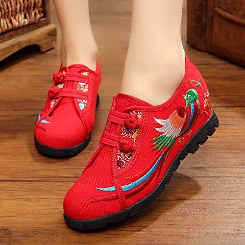GTVERNH-La primavera y el otoño en el viejo Beijing zapatos aumento de folk style zapatos profundo zapatos de baile zapatos bordados ropa zapatos Plaza De gules