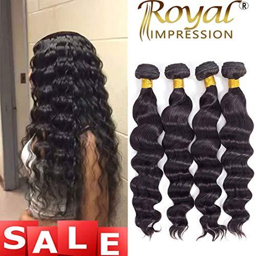 Brazilian Virgin Hair Loose Wave 4 Bundles 10A Grade Unprocessed Virgin Human Hair Remy Hair Bundles Natural Color (16