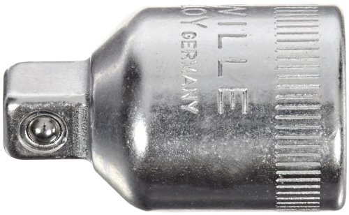 Stahlwille Adaptor (Stahlwille 431 Steel Adaptor, 3/8 Socket x 1/4 Plug, 17.2mm Diameter, 25mm Length by Stahlwille)