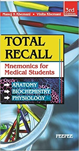 Buy Total Recall Mnemonics In Anatomy Biochemistry Physiology