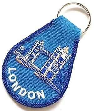 Puente de la torre de Londres Recuerdo Bordado Llavero mando ...