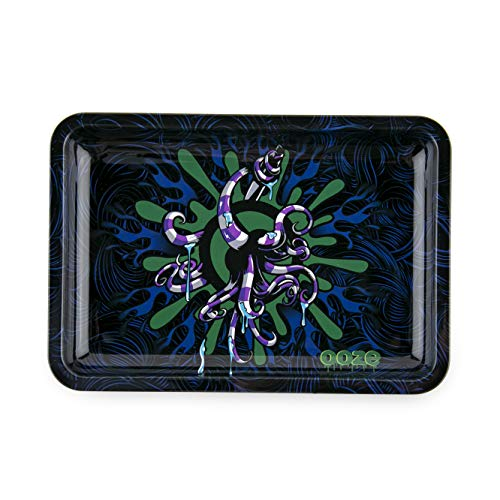 Ooze - Metal Rolling Tray - Octo - (Small) - Smoking Accessories - Rolling Tray - Ashtray ()