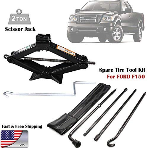 For (2004-2014) Ford F150 Spare Tire Lug Wrench Tool Kit Replacement & Scissor Jack 2 Tonne Heavy Duty by Bowoshen