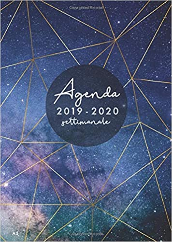 Amazon.com: Agenda settimanale 2019 2020 A5: Agenda 2019 ...
