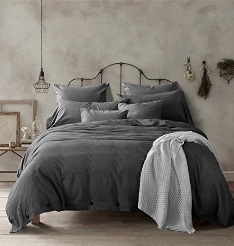 Buy Discount New!100-Percent Natural Washed Cotton Duvet Cover Set, Extremely Durable & Easy Care, H...