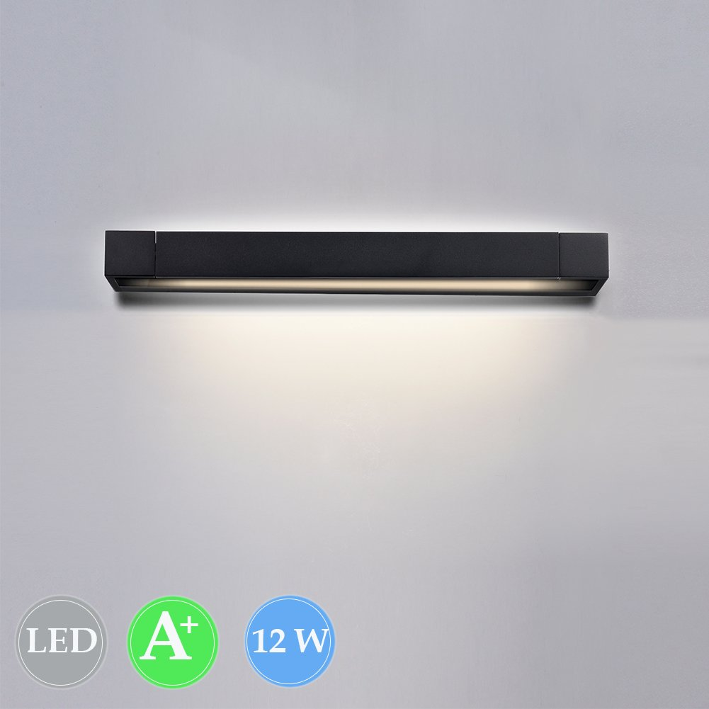 K-Bright 12W led Picture Light,Mirror Wall lamp,61cm 720LM LED Wall Light,Black,Warm White