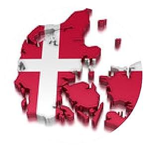 alfombrilla de ratón Dinamarca (vía recorte incluido) - ronda - 20cm