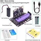 BBC Micro:bit Kits Programmable BBC Micro bit Board,Robot Expansion Board,Protective Case,AAA Cell Battery Case,30cm USB Cable and 18650 Battery for Kids Introduction Learning and Programming DIY
