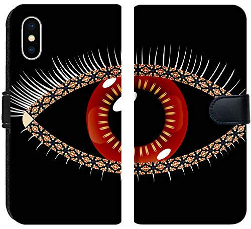 (Apple iPhone X Flip Fabric Wallet Case Image ID: 11957226 Geometric Eye Abstract Vector Art Illustration Image Contains transp)