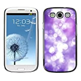 LASTONE PHONE CASE / Slim Protector Hard Shell Cover Case for Samsung Galaxy S3 I9300 / Cool White Lilac Purple Reflection Bright Focus