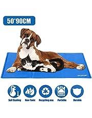 VICSPORT Kühlmatte für Hunde,Haustier Kühldecke für Hunde und Katzen Kühlkissen Kühl Hundedecke Kaltgelpad(90 * 50cm)