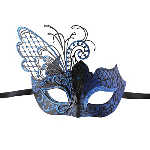 Xvevina Quality Venetian Filigree Metal Laser Cut Masquerade Luxury Glitter Masks for Women