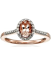 10k Pink Gold Oval Morganite Ring, Size 7
