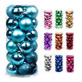 Volumus Christmas Ornaments Balls 96ct Tree Balls 1.57'' Colorful Shatterproof Decoration for Holiday Wedding Party Decoration