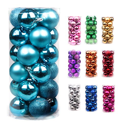 Volumus Christmas Ornaments Balls 24ct Tree Balls 1.57