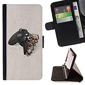 Jordan Colourful Shop - controller TV console play For Apple Iphone 4 / 4S - Leather Case Absorci???¡¯???€????€?????????&A
