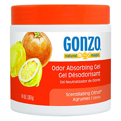 Gonzo Odor Absorbing Gel - Odor Eliminator for Car RV Closet Bathroom Pet Area Attic & More - Captures and Absorbs Smoke Mold and Other Odors - 14 Ounce (Gonzo Sponges)
