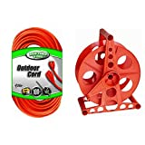 2 IN 1 BUNDLE Cable Outdoor Cord and Cord Reel.