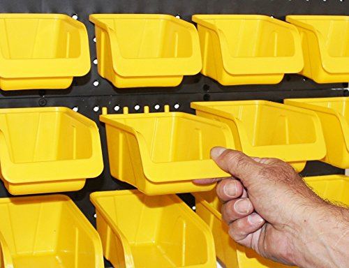 WallPeg Tool Board Accessories Plastic Pegboard Bins  Yellow Pegboard Bins 10 ea. # AM 10Y
