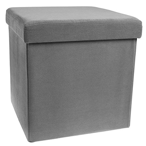 Storage Cube Folding Fabric Square Ottoman Foot Rest Coffee Table Collapsible With Lift Top
