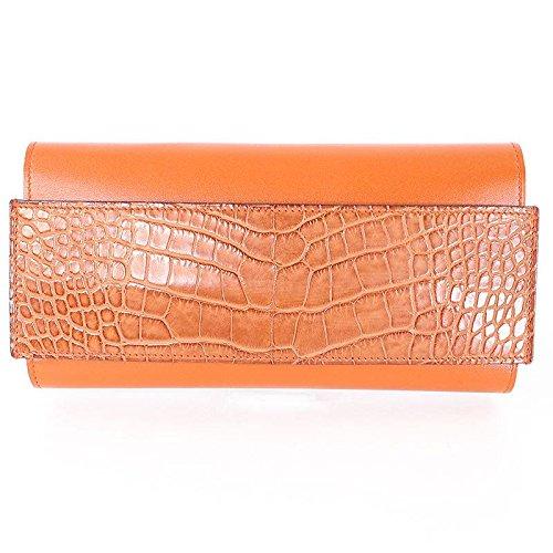 (エルメス) HERMES 【パッサンロング】A刻印アリゲーター財布(オレンジ) 中古 B077X9MMJD