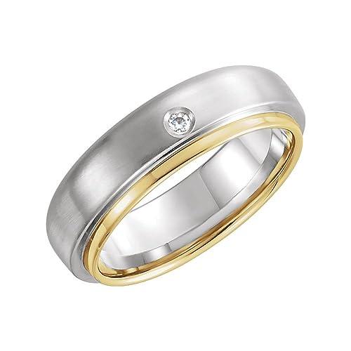 JewelryWeb Mujer Oro 14 Quilates (585) Oro Bicolor 14 Quilates (585) Redonda