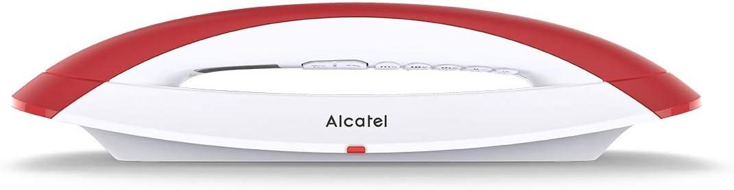 Alcatel Teléfono Inalámbrico Smile Red- Color Rojo
