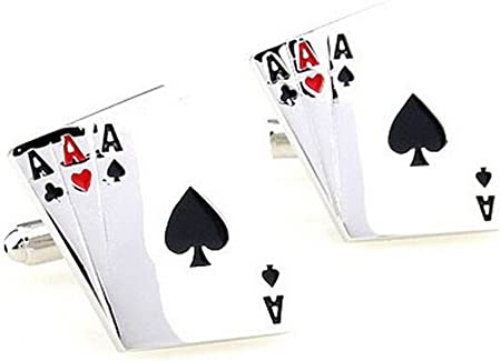 /Bijoux V/êtements Business weihnachtsgeschen 1/Paire de mode /Chemise en acier inoxydable mariage Boutons de manchette Poker Cufflinks/ Milopon boutons de manchette Cufflinks/