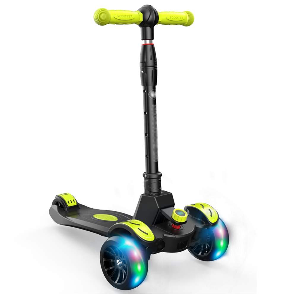 超人気新品 キックスクーター三輪車スケートボードペダル式乗用スタントスクーター最初のスクーター折りたたみTバーハンドルLEDライトアップホイール付き調節可能な B07H84DNY2 黒 B07H84DNY2 黒, 独特の上品:fa926f14 --- a0267596.xsph.ru