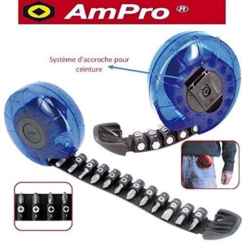 Lote de 20 Ampro T33216 Puntas Tipo-Cinta m/étrica