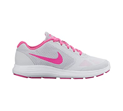 34b99ee91bc6 Nike Kids Revolution 3 (GS) Platinum Pink Grey White Size 4.5  Buy Online  at Low Prices in India - Amazon.in