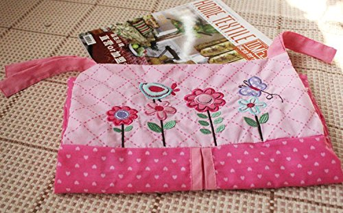 NAUGHTYBOSS Girl Baby Bedding Set Cotton 3D Embroidery Owl Bird Quilt Bumper Bedskirt Fitted Urine bag 8 Pieces Set Pink Color by NAUGHTYBOSS (Image #8)