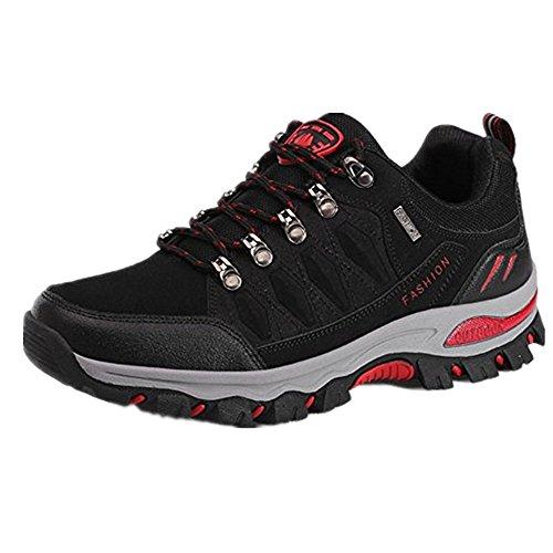 Grün Hiking Schwarz Sports Outdoor Schwarz Grau Trekking Damen 1 Wanderschuhe Herren Armee Schuhe 36 Blau NEOKER Sneaker 48 xq0vwafF