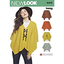 New Look Ladies Easy Sewing Pattern 6475 Poncho Tops & Cape
