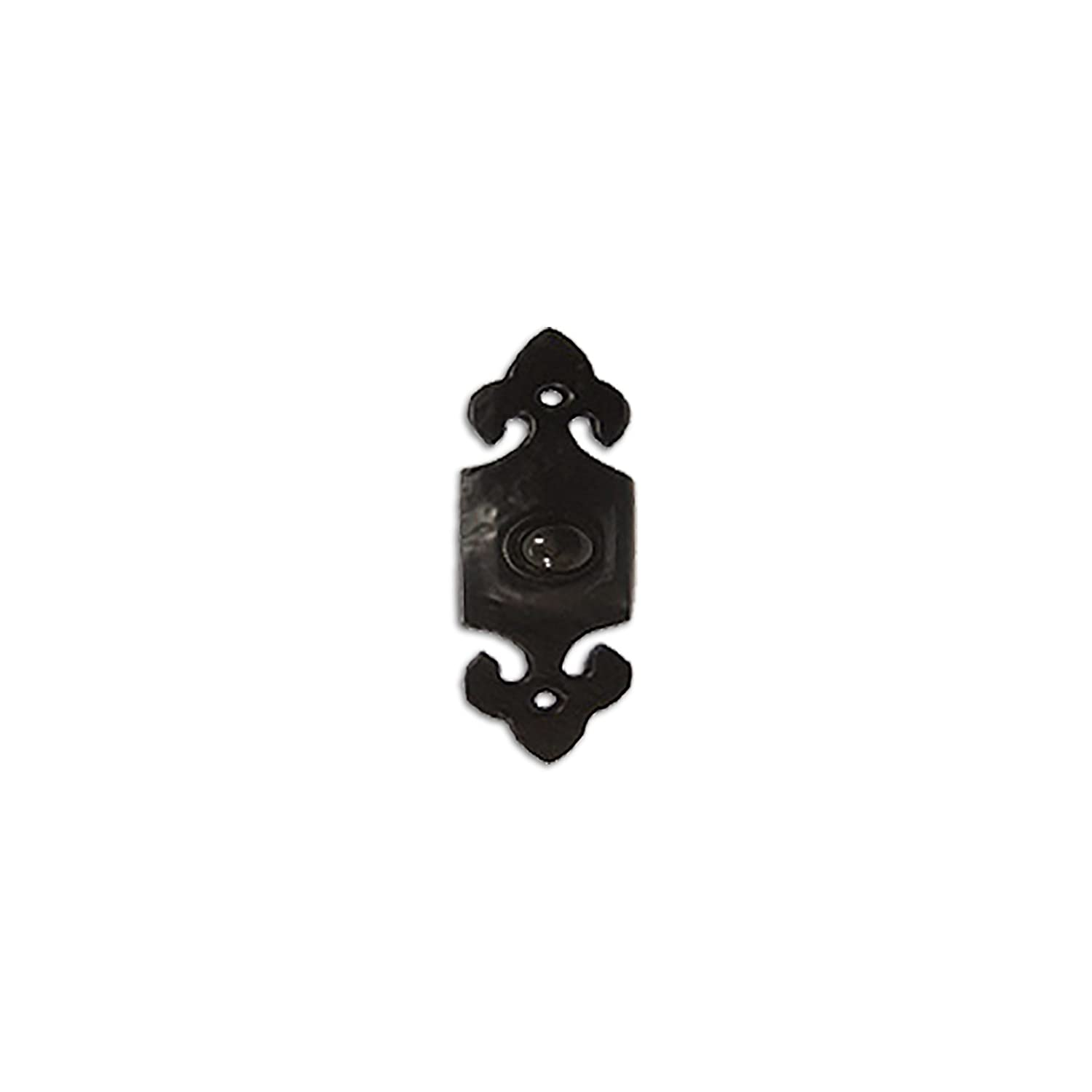 RCH Hardware Fancy Decorative Wrought Iron Bell Push, Black Matching Screws Included