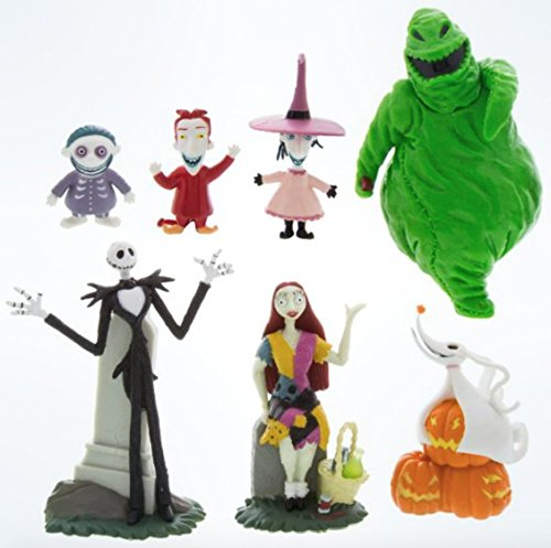 Disney Parks Exclusive Jack Skellington Nightmare Before Christmas 7 Pc. Figurine Playset
