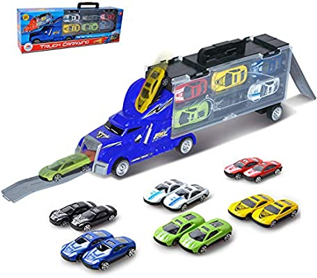 Plastic Car Toy Children Kids Racing Pull Back Cars Truck Vehicle Boy Gifts N#S7