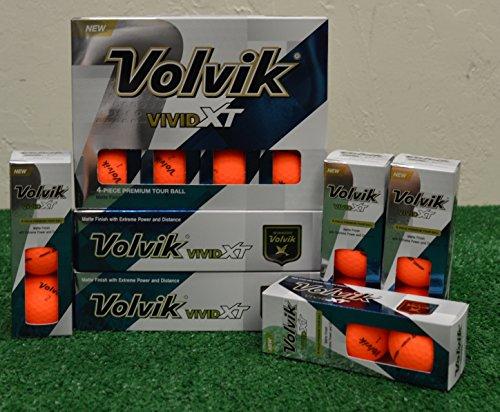 4 Dozen Volvik Vivid XT Matte Orange Golf Balls – New in Box