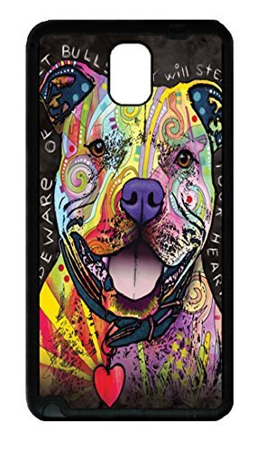 Samsung Galaxy Note 3 N9000 Case and Cover Beware of Pit Bulls TPU Silicone Rubber Case Cover for Samsung Galaxy Note 3 N9000 Black