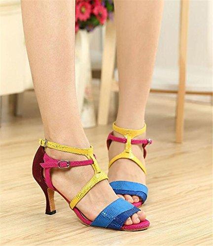 Scarpe da donna Danza Multicolore Sala da ballo latino Taogo pompe sandali Da 35 a 41