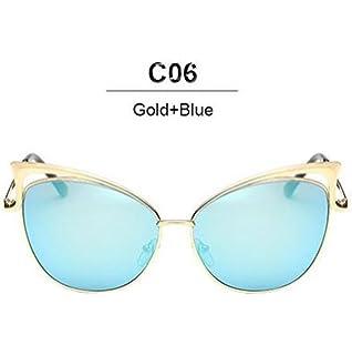 79cbc68c33c14 Mode nouvelle Cat Eye Luxury 2018 Lunettes de soleil Femme Twin-Beam marque  Designer Hommes