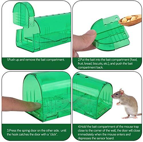 Wakana Smart Humaine Pi/ège /à Souris Agrandie Live Rat Attraper cruaut/é rongeurs Cage Facile /à D/éfinir et Pas de Tuer la Souris pour Usage int/érieur et ext/érieur