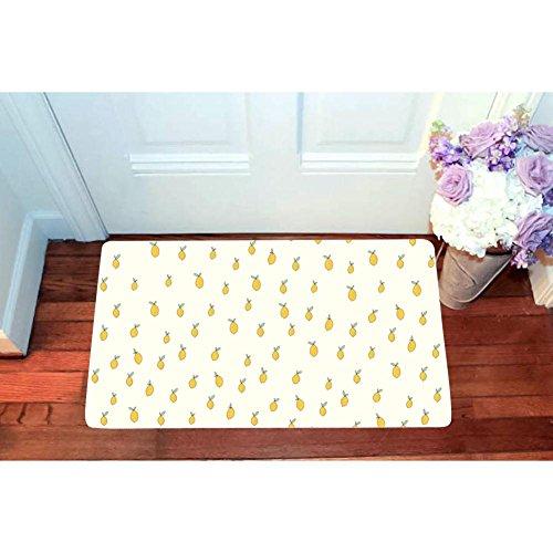Cute Lemon limo Entrance Door Mat Square Doormat Toilet Floor Mats Non Slip Bath Rugs 15.7