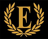 Letter E (Gold), LARGE SIZE, Decorative Monogram - 9