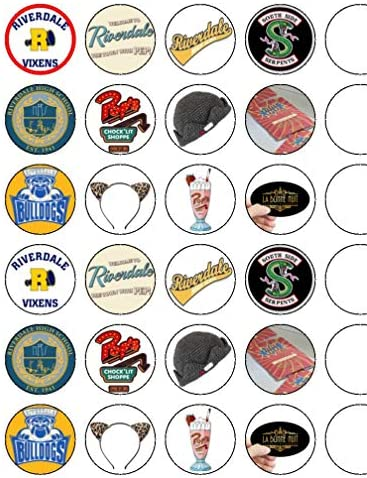 Riverdale Iogos & Items Essbare Cupcake-Dekoration für Cupcakes, Fee, 24 Stück